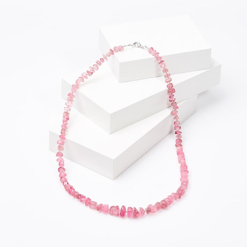 Бусы турмалин розовый (рубеллит) 53 см (биж. сплав) бусы розовый кварц 47 53 см биж сплав
