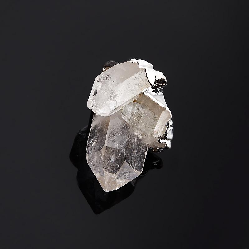 Кулон горный хрусталь друза (биж. сплав) кольцо друза хрусталь