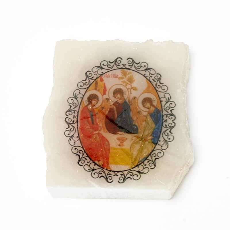 Срез с изображением Святая Троица с молитвой селенит 4,5х5,5 см вилинбахова т святая живоначальная троица с деяниями