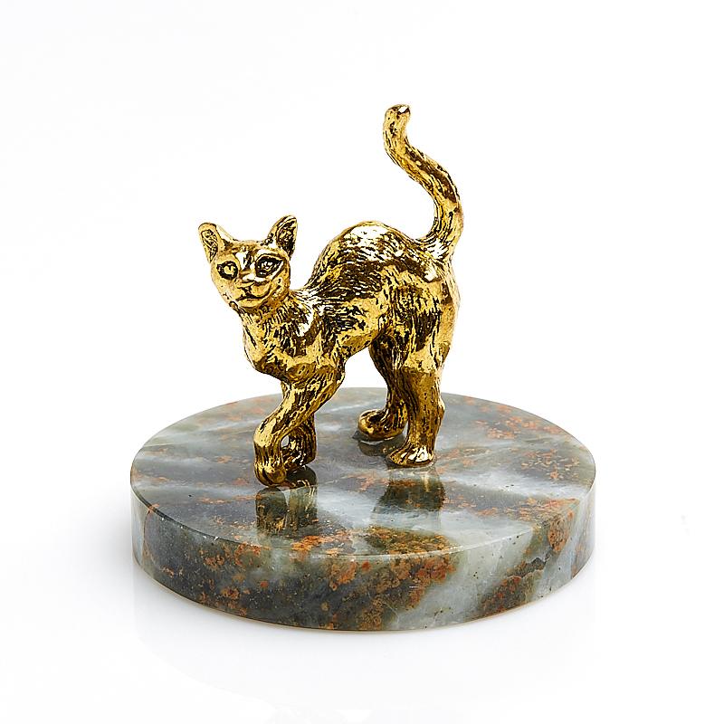 Котик на подставке из змеевика 5 см