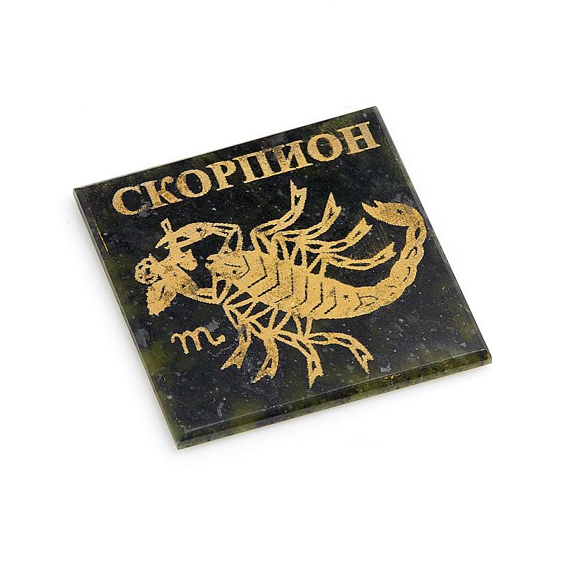 Магнит змеевик Скорпион 5 см брелок овал змеевик 5 см
