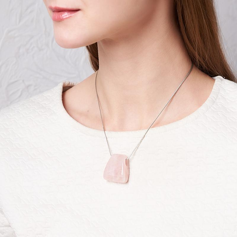 Кулон розовый кварц Намибия 3,5 см