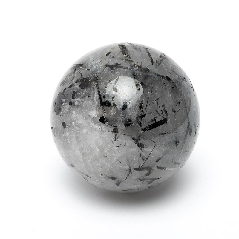 Шар кварц с турмалином 5 см шар заринит 5 5 см