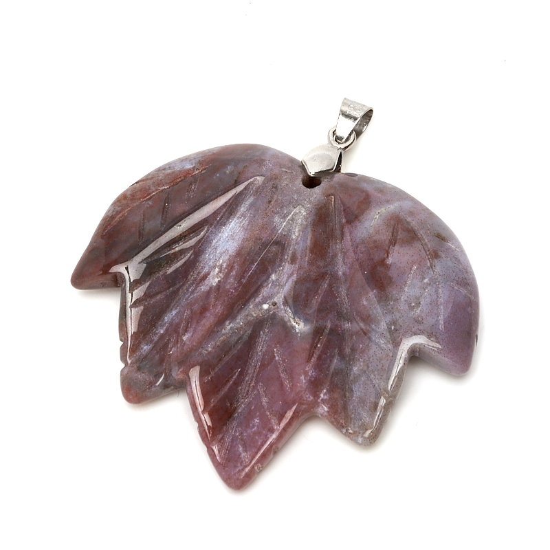 Кулон агат лист (биж. сплав) 5,5 см кулон сердолик лист биж сплав 3 см