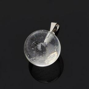 Кулон горный хрусталь Бразилия шар (биж. сплав) 2 см