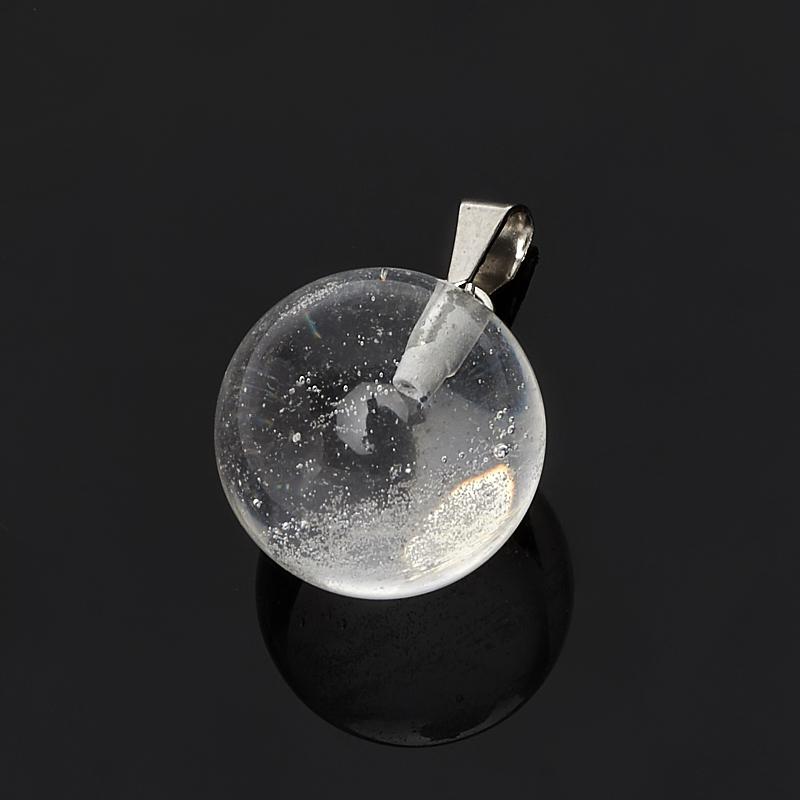 Кулон горный хрусталь шар (биж. сплав) 2 см
