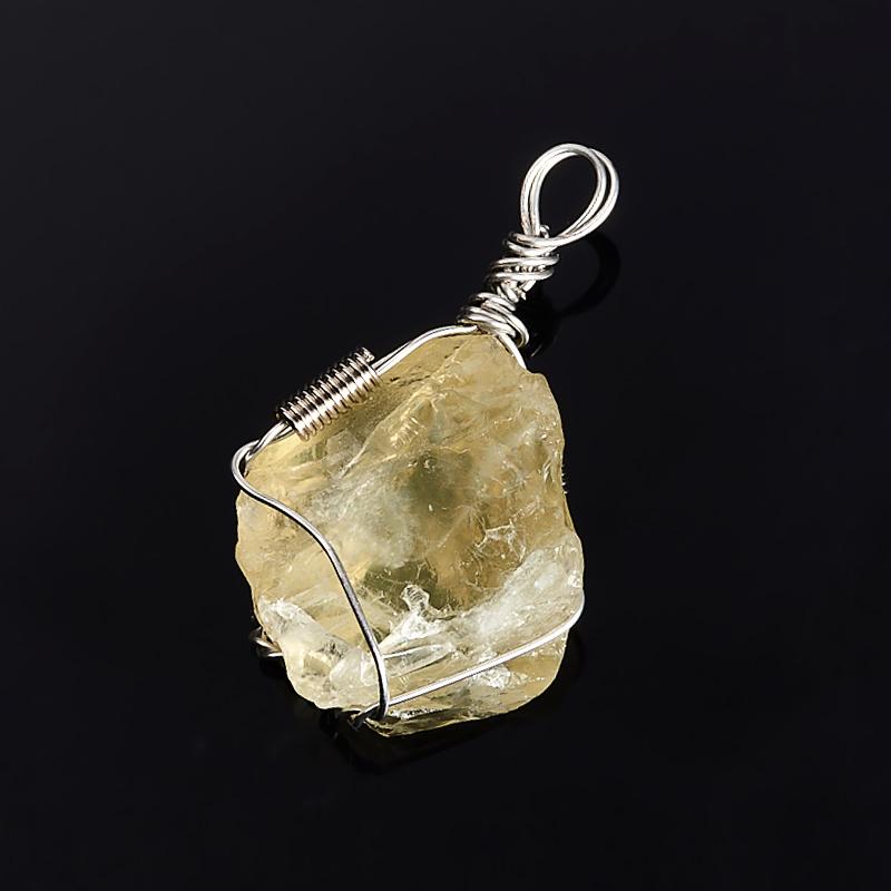 Кулон цитрин Бразилия кристалл (биж. сплав) 3-4 см