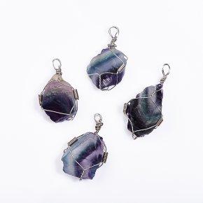 Кулон флюорит кристалл (биж. сплав) 4-5 см