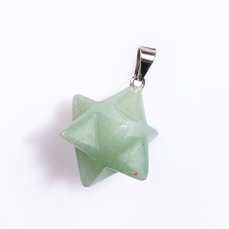 Фото - Кулон авантюрин зеленый меркаба (биж. сплав) 2-3 см 3 2 3 45