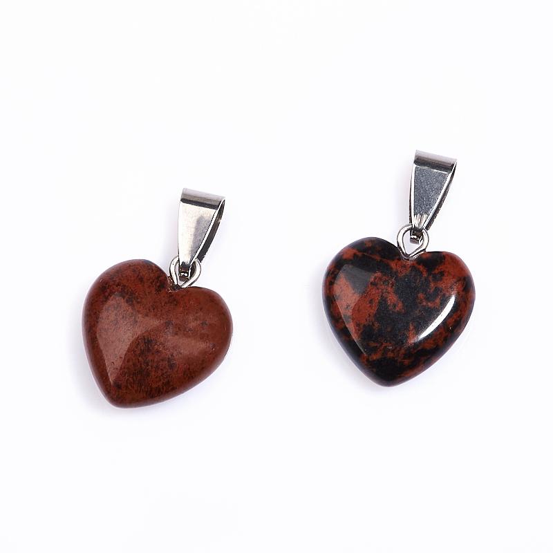 Кулон обсидиан коричневый сердечко (биж. сплав) 2-2,5 см кулон маятник обсидиан коричневый 3 см