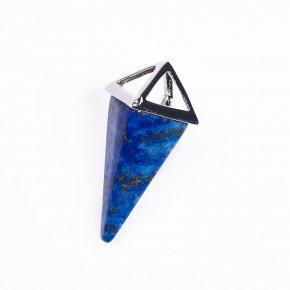 Кулон лазурит Афганистан треугольник (биж. сплав) 3,5-4 см
