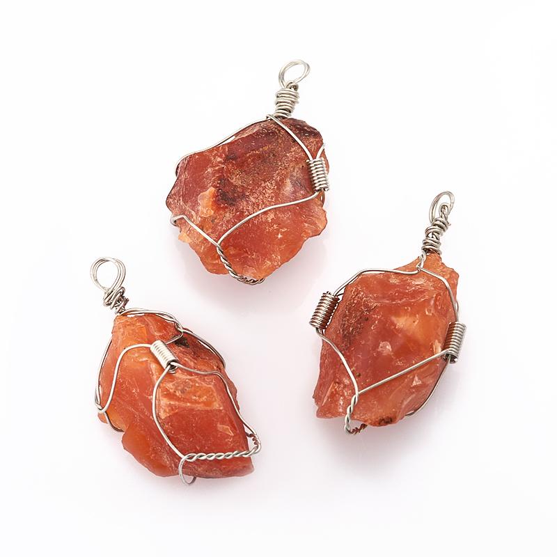 Кулон сердолик кристалл (биж. сплав) 4,5-5 см кулон сердолик лист биж сплав 3 см