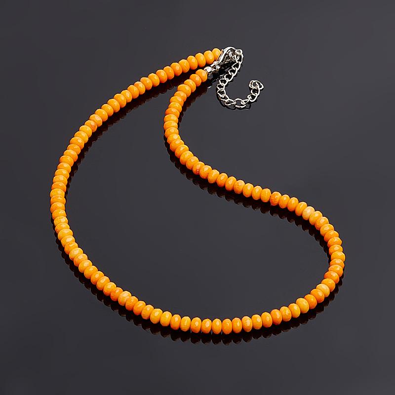 Бусы коралл оранжевый огранка 6 мм 45-50 см (биж. сплав) бусы из агата миледи 2 наг 10 50 1