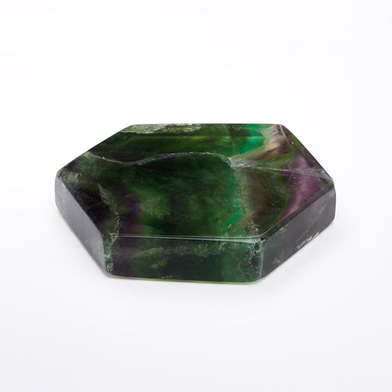 Срез флюорит S флюорит радужный минерал камень в коробочке real minerals collection флюорит радужный