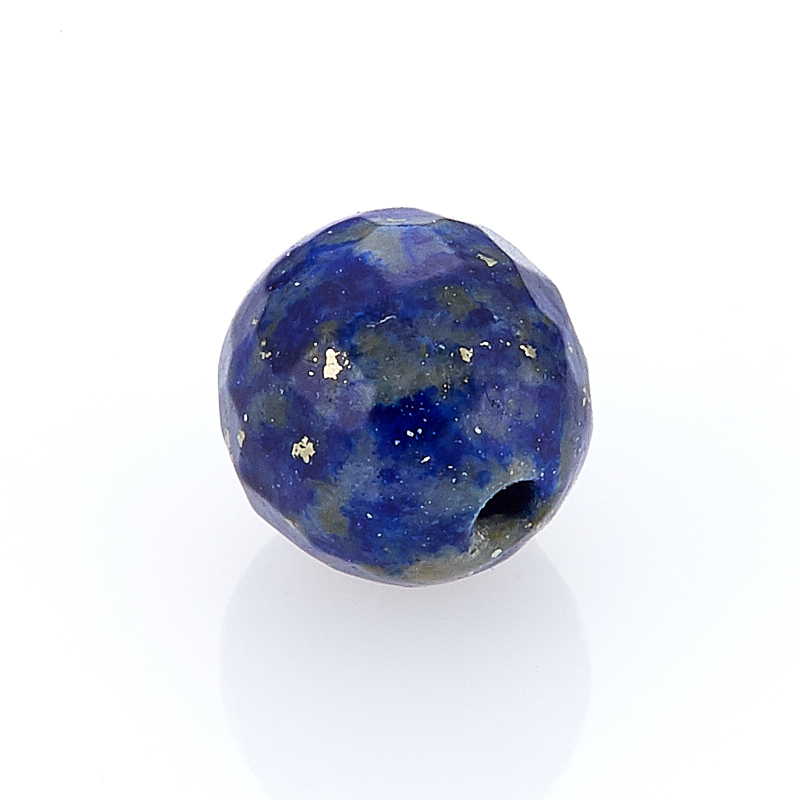 Бусина лазурит шарик 7-7,5 мм огранка (1 шт) матовое натуральный netstone нити круглый шарик 8 мм отверстие 1 мм около 24 шт нитка 7 5