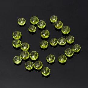 Бусина хризолит США сплюснутый шар 5,5-6 мм (1 шт)