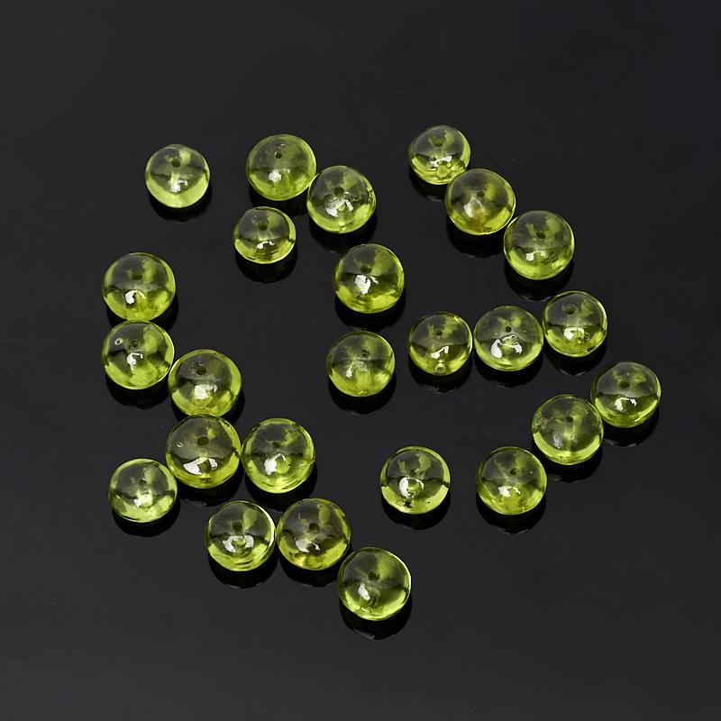 Бусина хризолит сплюснутый шар 5,5-6 мм (1 шт)