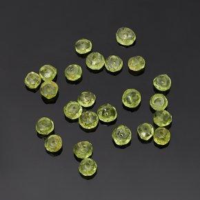 Бусина хризолит США сплюснутый шар 3,5-4 мм огранка (1 шт)