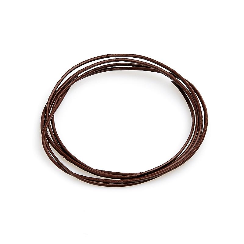 Шнурок коричневый 70 см (натуральная кожа)