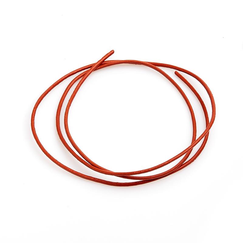 Шнурок оранжевый 60 см (натуральная кожа)
