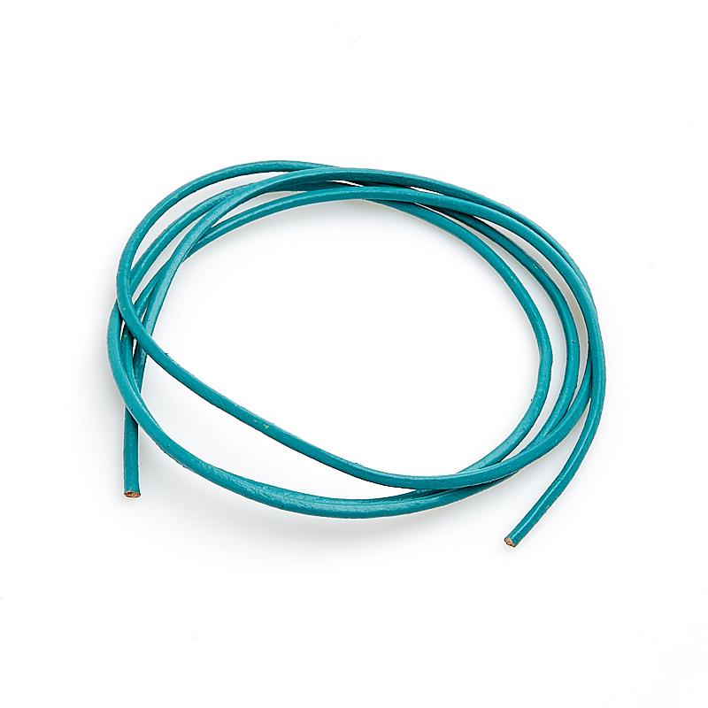 Фото - Шнурок зеленый темный 60 см (натуральная кожа) ёлка цвет зеленый 150 см