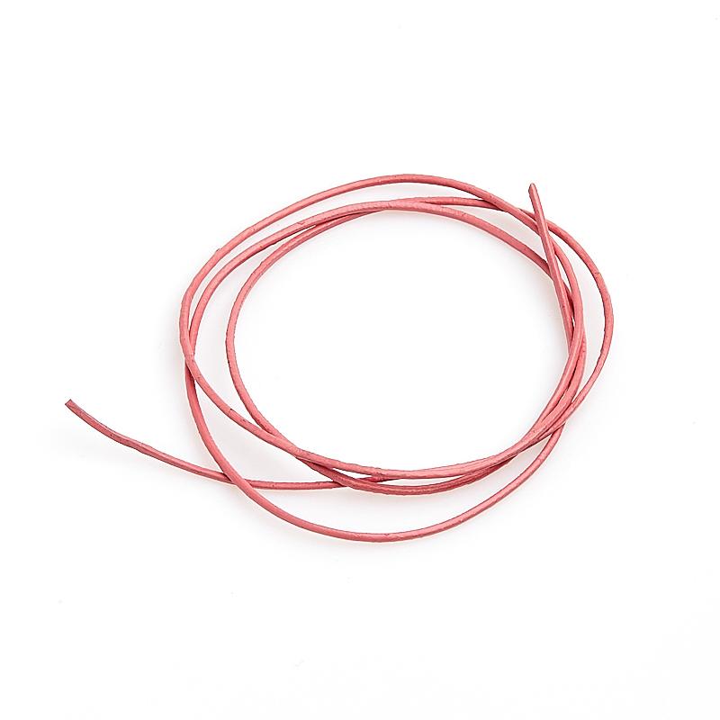 Шнурок розовый 70 см (натуральная кожа)