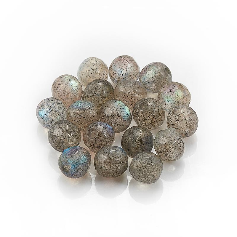 Бусина лабрадор шарик 5,5-6 мм огранка (1 шт)