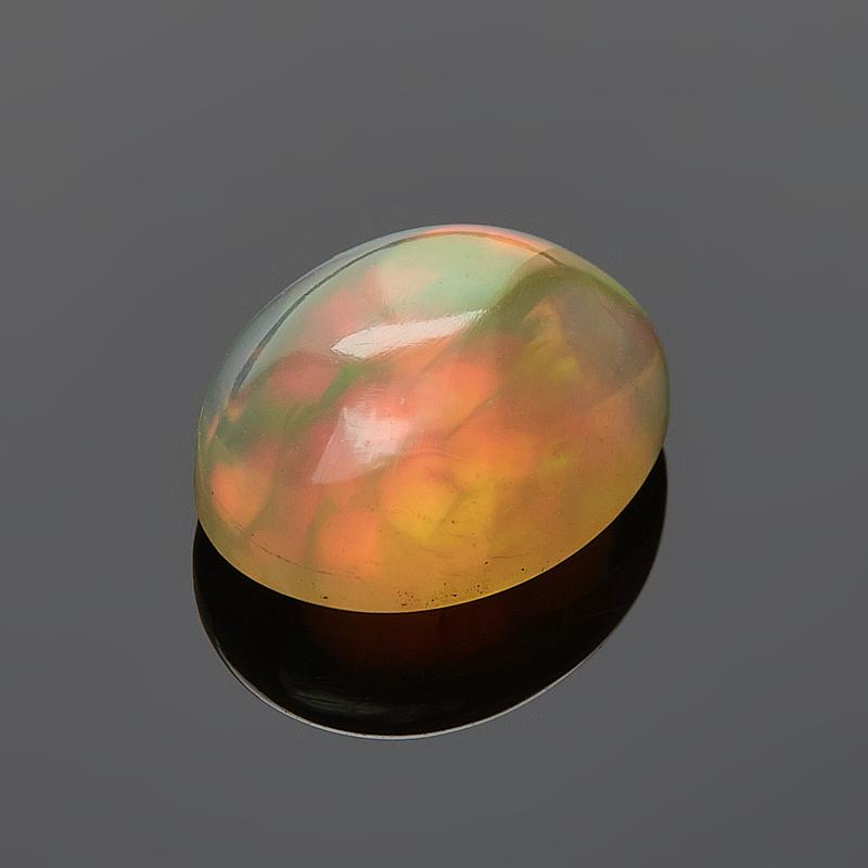 Кабошон опал благородный желтый 6*8 мм