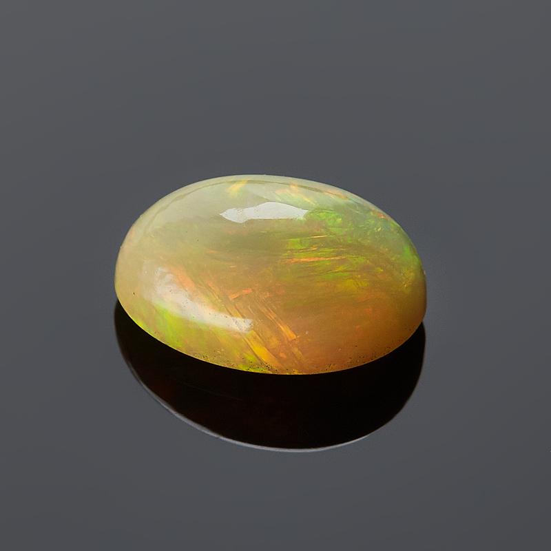 Кабошон опал благородный желтый 6*8 мм бусы опал желтый 8 мм 48 см