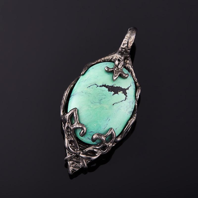 Кулон бирюза (серебро 925 пр.) подвески бижутерные колечки кулон со шнурком кристалл прес бирюза пд кам1308