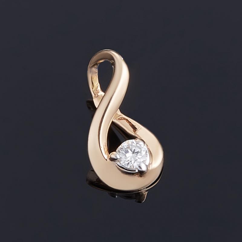 Кулон бриллиант Индия огранка (золото 585 пр.)