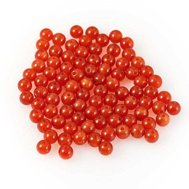 Бусина сердолик шарик 4-4,5 мм (1 шт) бусина лунный камень шарик 4 5 5 мм 1 шт