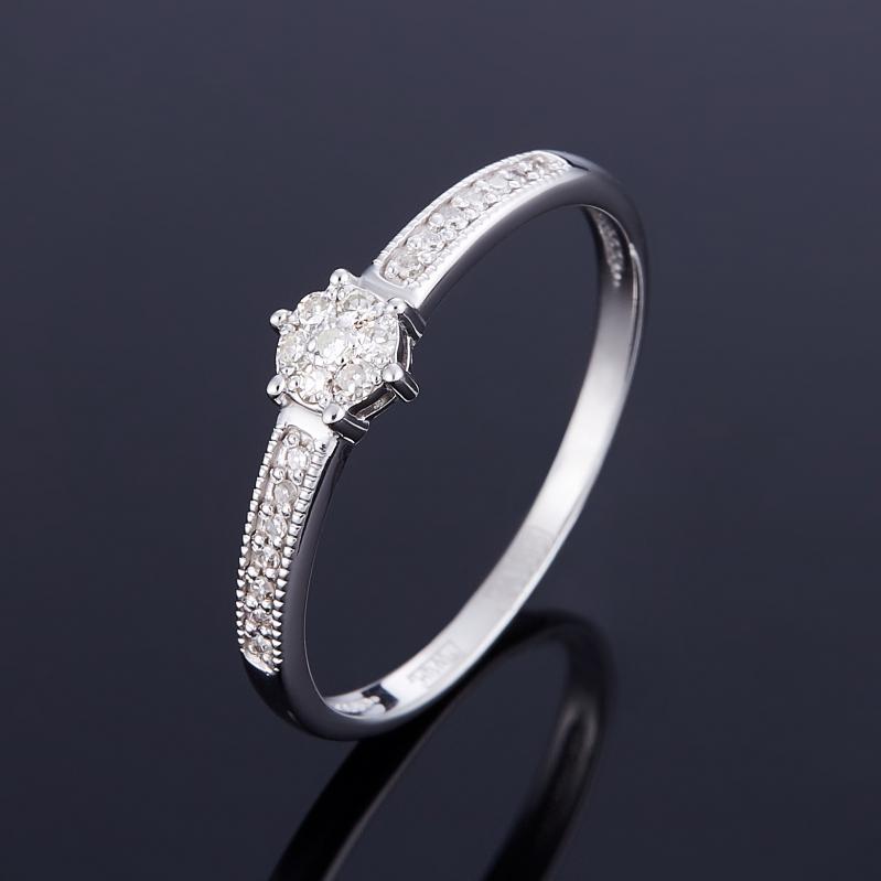 Кольцо бриллиант Индия огранка (золото 585 пр.) размер 19,5
