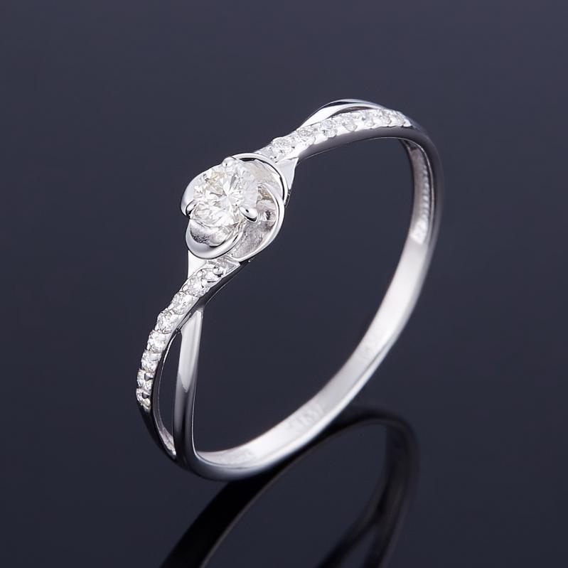 Кольцо бриллиант Индия огранка (золото 585 пр.) размер 17