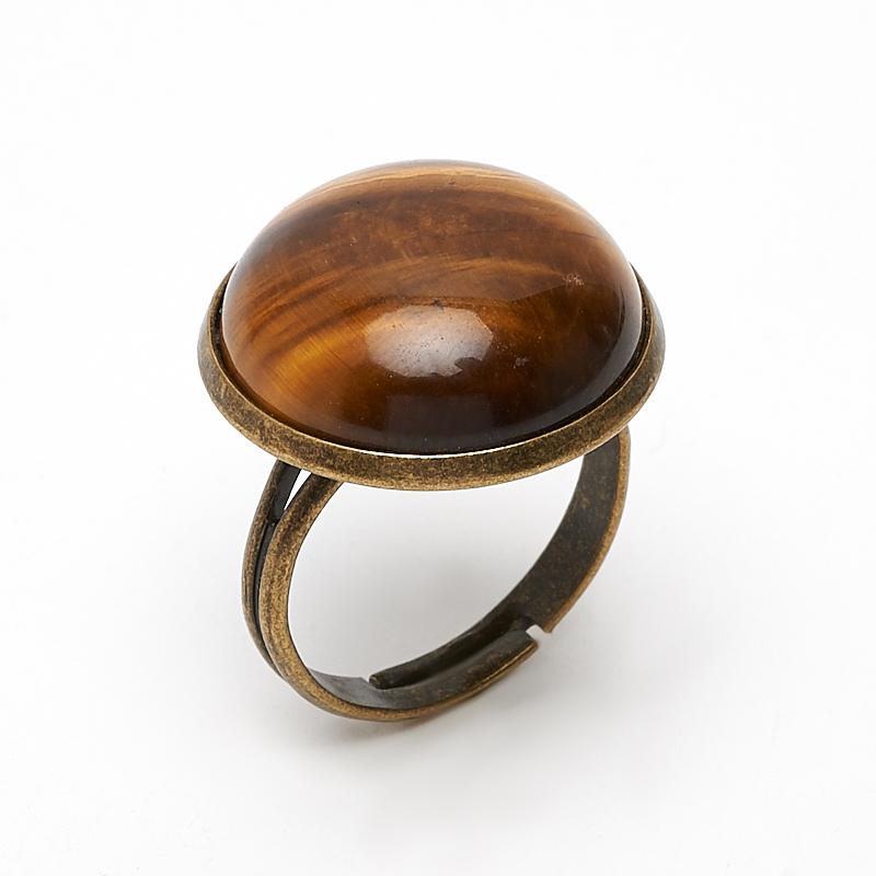 Кольцо тигровый глаз (биж. сплав) размер регулируемый кольца колечки кольцо лаватера тигровый глаз