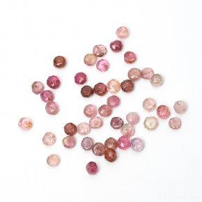 Бусина турмалин розовый (рубеллит) Бразилия сплюснутый шар 4-4,5 мм огранка (1 шт)