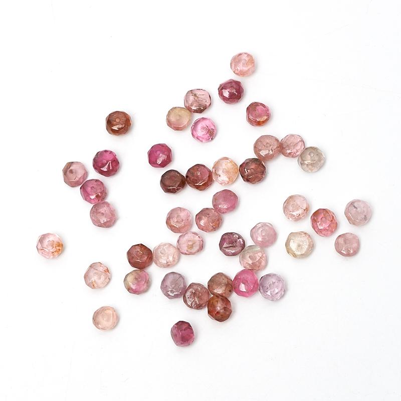 Бусина турмалин розовый (рубеллит) сплюснутый шар 4-4,5 мм огранка (1 шт) богатый рейтинг foojo пенопласт плитка коврика гостиная спальня полных магазинов матов скольжение 60 60 1 2cm розовый 4 установлены