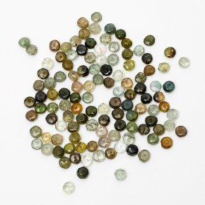 Бусина турмалин зеленый (верделит) Бразилия сплюснутый шар 4-4,5 мм огранка (1 шт)