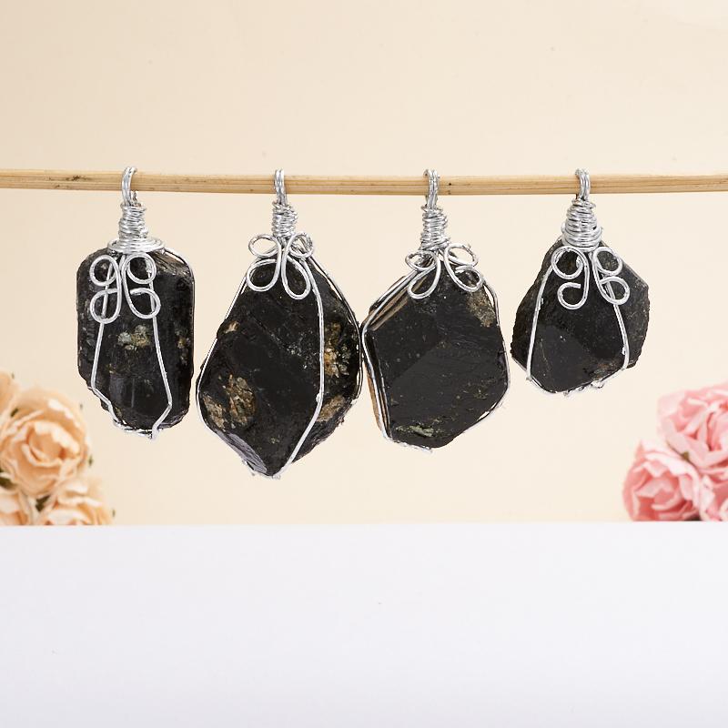 Кулон турмалин черный (шерл) кристалл (биж. сплав) 2,5-3 см кулон на цепочке золотая змейка кристалл янтарного цвета прозрачные стразы бижутерный сплав золочение 24 к villa di mario италия