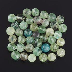 Бусина флюорит зеленый шарик 5,5-6 мм (1 шт)