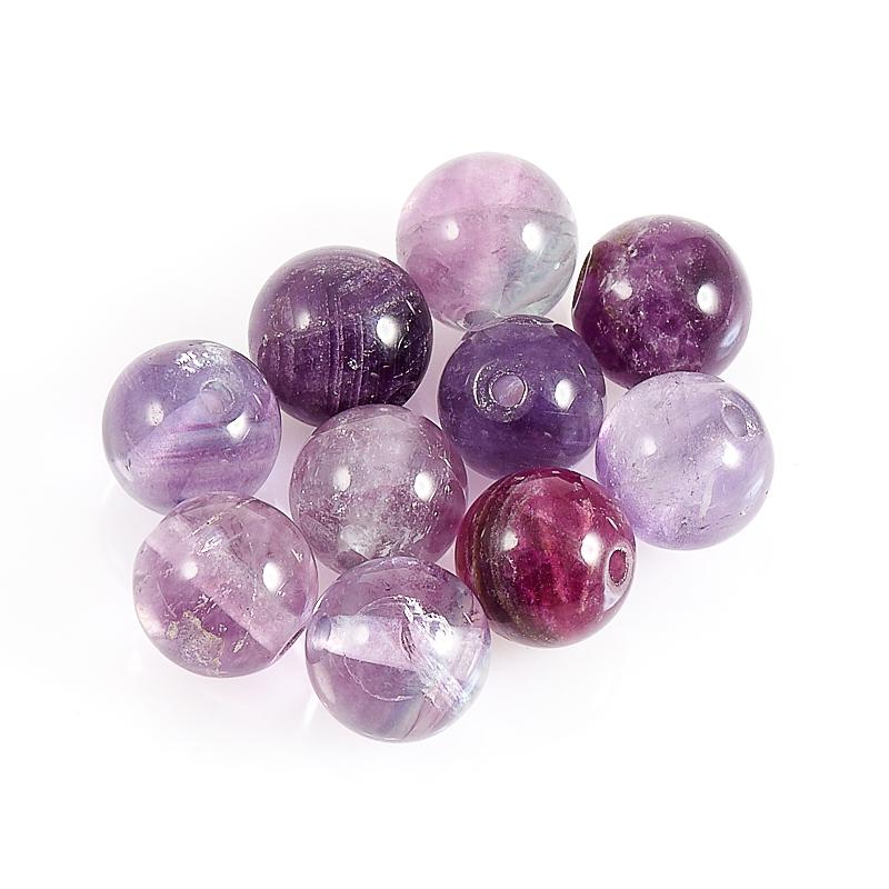 Бусина флюорит фиолетовый шарик 5,5-6 мм (1 шт)
