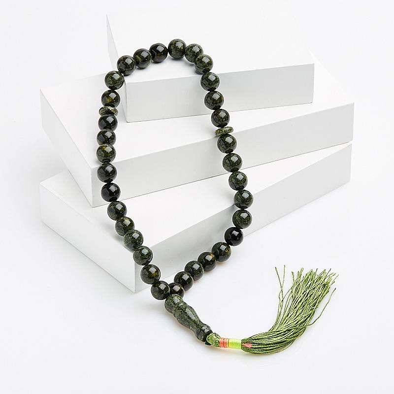 Четки змеевик 10 мм (33 бусины)