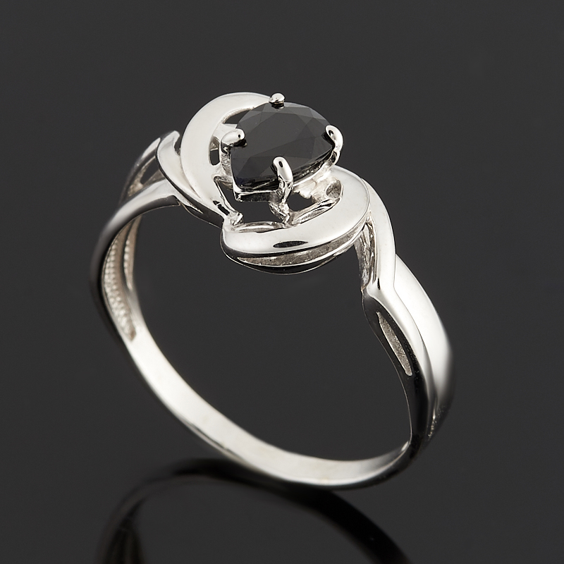 Кольцо сапфир черный огранка (серебро 925 пр.) размер 18 кольцо сапфир черный огранка серебро 925 пр размер 18