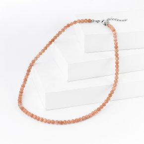 Бусы солнечный камень Индия 5 мм 45 см (+7 см) (биж. сплав)