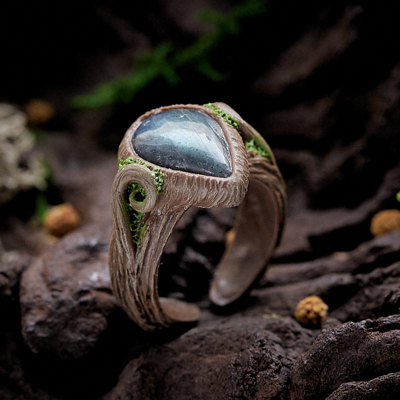Кольцо лабрадор (полимерная глина) размер регулируемый