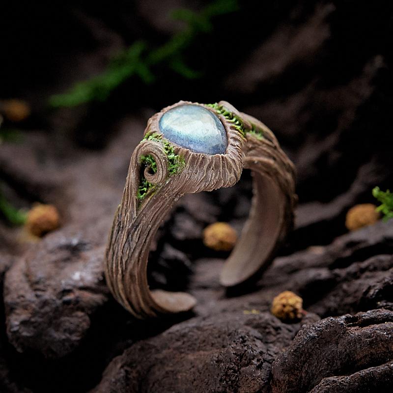Кольцо лабрадор (полимерная глина) размер регулируемый fimo soft полимерная глина 56 гр цвет королевский синий 8020 35