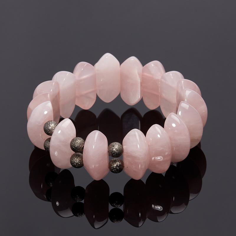 Браслет розовый кварц 17 см (биж. сплав) камни istone двенадцать созвездий овна кварц розовый кварц браслет