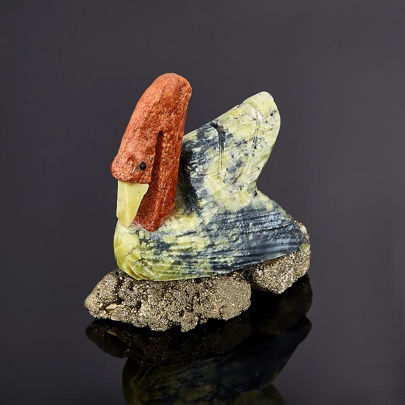 цены Лебедь гипс, пирит, стеатит 3,5 см