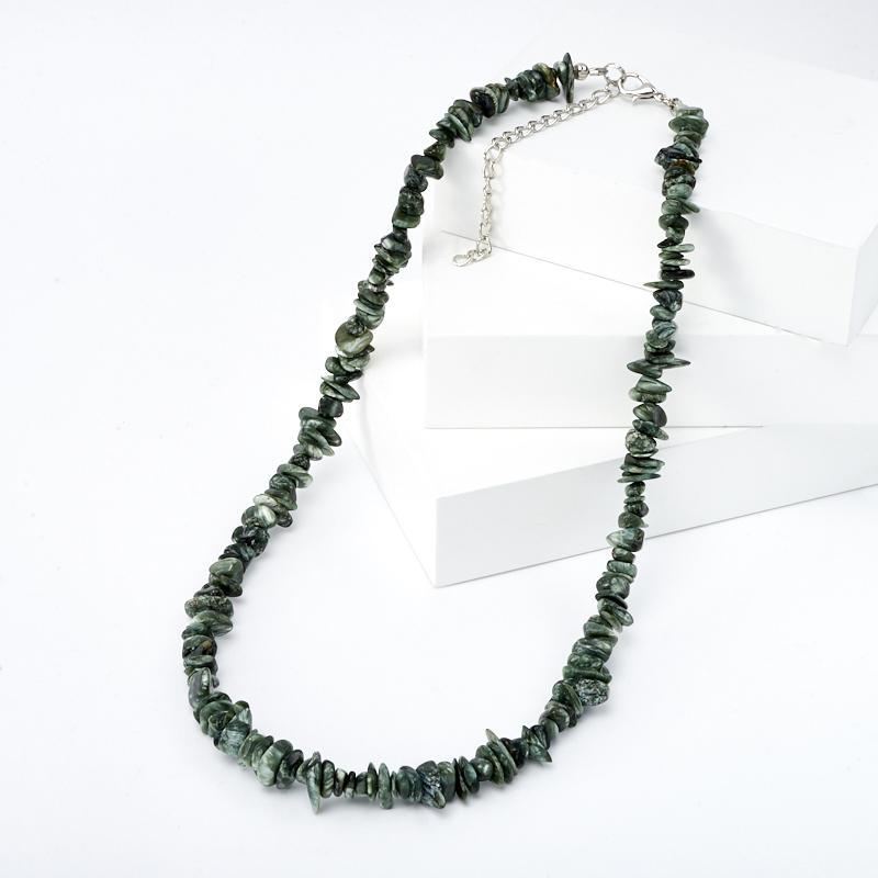 Бусы клинохлор (серафинит) 48-54 см (биж. сплав) бусы аметист 48 54 см биж сплав