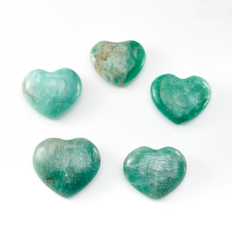 Сердечко амазонит 4-4,5 см сердечко селенит 4 см